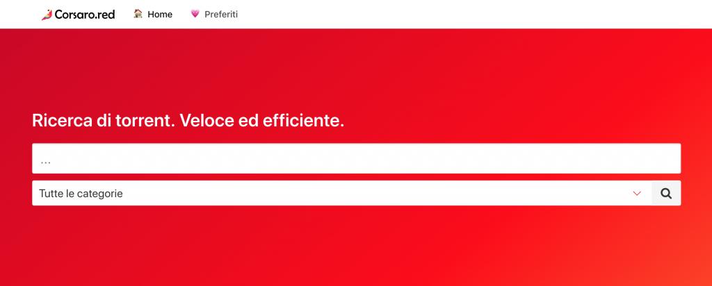 Corsaro Red siti Web torrent