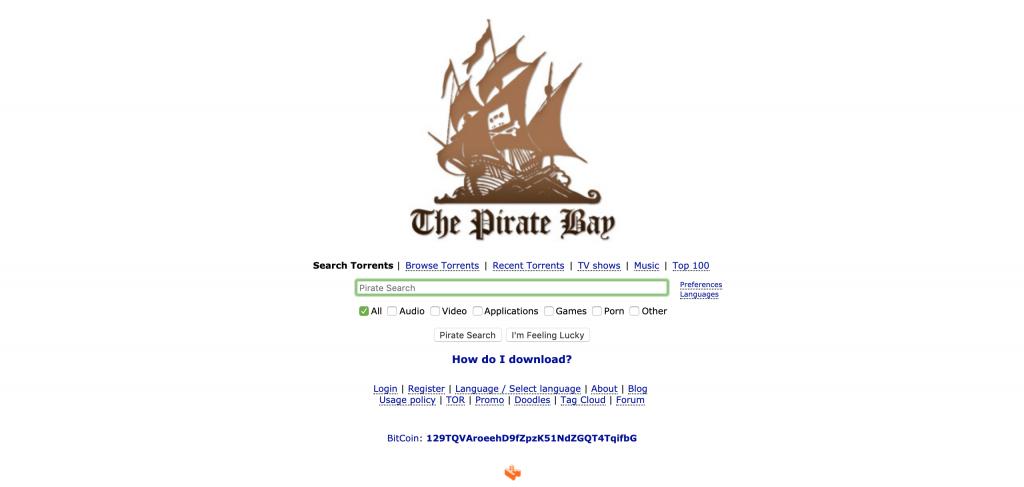 The Pirate Bay   siti Web torrent