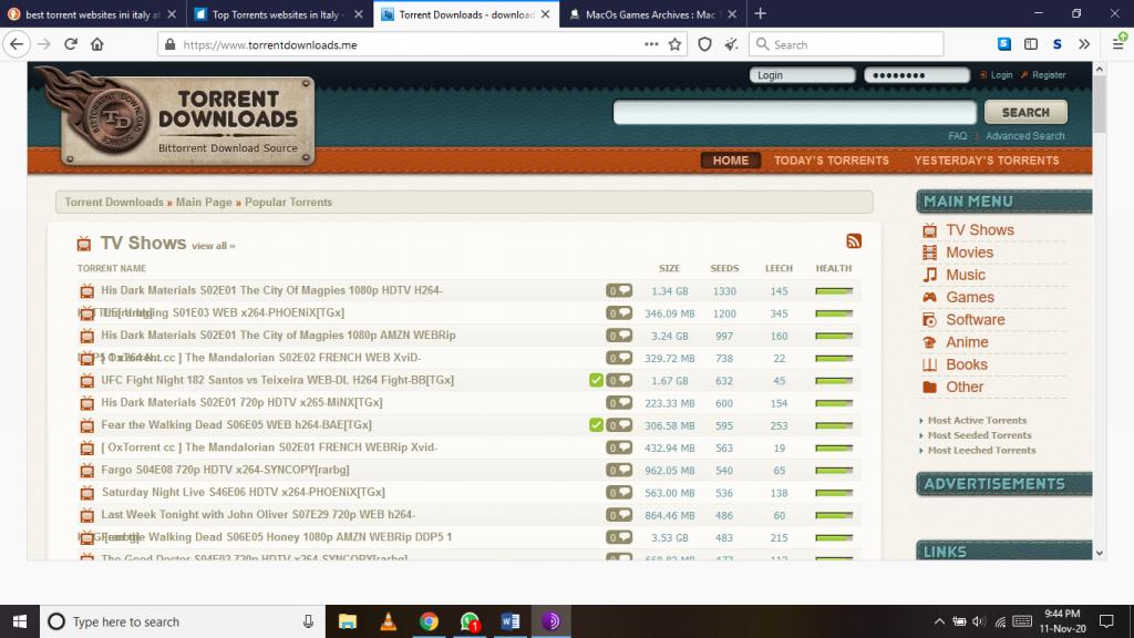 Torrent Downloads siti Web torrent