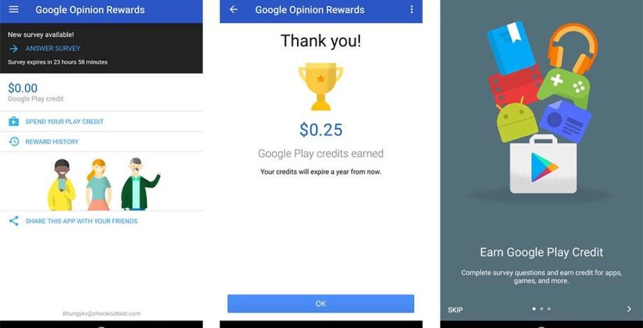 Ricompense da Google Opinion