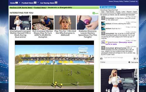Hesgoal Miglior sito di streaming live di calcio
